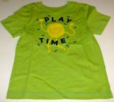NWT Toddler Boys 4T PLAY TIME Shirt Short Sleeve Green FUN HAPPY