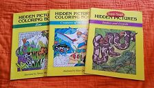 Hidden Picture Coloring Bks (Lot 3) Creatures of the Deep, Snakes and Lizards,