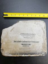 Antique Lithograph Stone- Early 1900s Advertising Indianapolis Apex