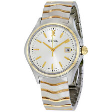 Ebel Wave Silver Dial Two-tone Stainless Steel Mens Watch 1216202