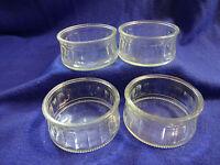 FOUR CREME BRULEE GLASS RAMEKIN STYLE DISHES