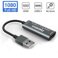 HDMI to USB 2.0 Video Capture Card Full HD Game Recording for Live Streaming