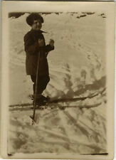 PHOTO ANCIENNE - VINTAGE SNAPSHOT - SPORT SKI ENFANT - SKIING CHILD