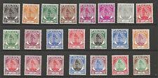 SG90-110 Set di 1949-55 GVI + Shade 5 C Belle & MENTA FRESCA CON GOMMA BIANCO GATTO £ 112