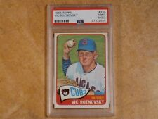 VIC ROZNOVSKY 1965 TOPPS PSA 9 (MINT)(OC) CARD #334 CHICAGO CUBS LOW POP!