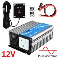 GIANDEL power inverter 600w DC 12v to AC 240v pure sine converter with remote