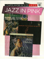 cd CAPOLAVORI IN 3 CD Jazz JAZZ IN PINK. HOLIDAY, VAUGHAN, FITZGERALD SIGILLATO