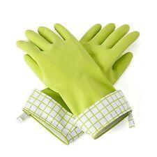 Full Circle Splash Patrol Natural Latex Dishwashing / Cleaning Gloves - Green