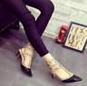 Rivets Pointed Toe Sandals Womens Stilettis High Heels Hollow Ankle Straps New