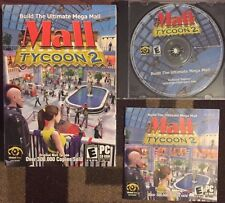 MALL TYCOON 2 COMPLETE (PC, 2003) VG SHAPE ORIGINAL BOX, JEWEL CASE, DISC,MANUAL
