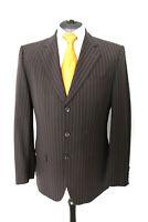HUGO BOSS Herren Luxus Anzug Größe 48 dunkelbraun (O3/443)