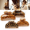 Fashion Retro Women Lady Acrylic Leopard Butterfly Hair Claw Clip Clamp Hairpin
