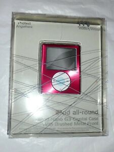 ipod nano 3rd Gen crystal case with brushed metal front