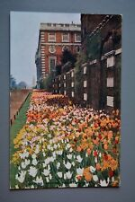 R&L Postcard: Hampton Court Spring Garden Border, Flowers