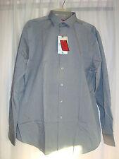 Alfani Red Mens Slim Fit Gray Button Down Dress Shirt New   Size L