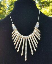 John Wind Maximal Art Gorgeous &Unique Gold Faux Pearl And Faux Diamond Necklace