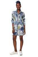 Desigual Gisela Blue Denim Jacket Floral Print Patches 36-46 UK 8-18 RRP£109