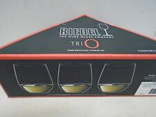 Riedel Wine Glass TRIO Three 3 Piece Tumbler Set New in Box Chardonnay