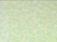 Mint / White Floral Polycotton Fabric