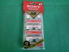 x3 SONY MC60 MICROCASSETTA Sigillata Sealed Dictation Segreteria NEW Collector