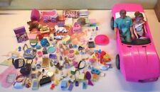 Lot Mattel Barbie 2 Doll Bratz Accessories purse shoes dish phone ken scrubs car