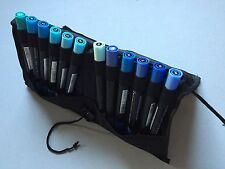 Delta Marker 12er Set - BLUE-COLORS - ALLES IN BLAU  praktische Tasche - DMSBL12
