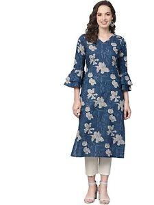 Women's Cotton printed Kurti - ( Free Shipping )