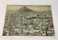 1887 magazine engraving ~ Greece GENERAL VIEW OF ATHENS