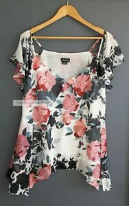 CITY CHIC // Size S/16 // Gorgeous Floral Print Floaty Top