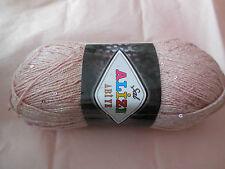 Un Rose 5%Payette,5%Métal,10%Polyester &80%Laine acrylique pour , par rouleau