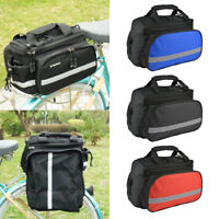 Bicycle Bike Rear Rack Bag Removable Carry Carrier Saddle Bag Pannier UK