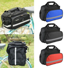 Bike Bicycle Seat Rear Bag Waterproof Pannier Rack Pack Shoulder Cycling Pouchs