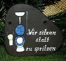 GB-3871 -Türschild / Namensschild / Töpferschild / Handarbeit - WC / Toilette