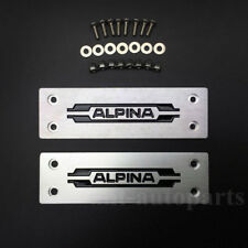 Metal ALPINA Logo Car Floor Mat Carpet Emblem Badge Auto Trunk Rear Tailgate