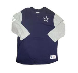 Dallas Cowboys Mitchell & Ness 2.0 Home Stretch Henley 2XLT