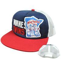MLB American Needle Soul Felt Applique Snapback Mesh Hat Cap Minnesota Twins