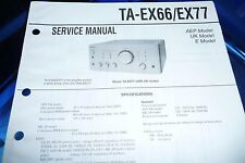 Service Manual-Anleitung für Sony  TA-EX66/TA-EX77,ORIGINAL!