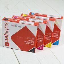 SUBLIJET-R sublimazione GEL Cartucce inchiostro SET COMPLETO CMYK SG 3110DN / SG 7100DN