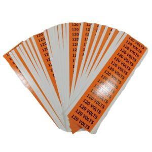 Brady 44304 Conduit and Voltage Markers 120 Volts Black/Orange (Box of 450)