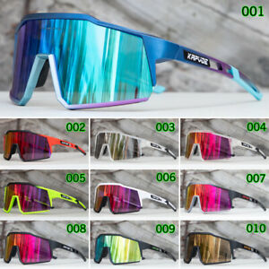 Men Women Cycling Sunglasses UV 400 Bicycle Glasses Bike Eyewear 4 Lens Glasses