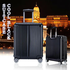"20"" Black Lightweight Aluminum alloy Spinner Wheel Luggage Suitcase"