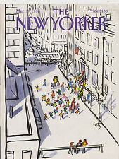MARCH 17 1986 THE NEW YORKER magazine ( COVER ONLY ) - SNOW - STREET