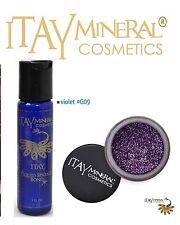 ITAY Mineral Cosmetics Liquid Sparkle Bond + Glitter Powder G9 Violet