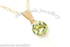 9ct Gold Peridot Pendant and Chain Gift Boxed Necklace Made in UK Christmas Xmas