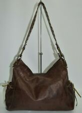 Maurizio Taiuti Italian Leather Brown Lace Shoulder Bag