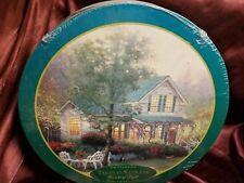 "Vintage Thomas Kinkade Painter of Light ""The Village Inn"" 750 Piece Round Puzzle"