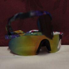 OCCHIALI DA SOLE CICLISMO bambino UV-POLY CARBON LENSES art.770 -aste con molla