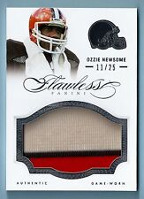 OZZIE NEWSOME 2014 PANINI FLAWLESS 3 COLOR JUMBO PATCH /25 BROWNS