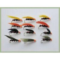 3 V Fly Size 12 Ultimate RV Orange Super Straggler Trout Wet Flies