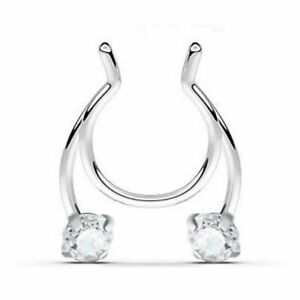 1pcs Nose Ring Open Hoop Lip Body Piercing clip on Studs Stainless Steel Jewelry